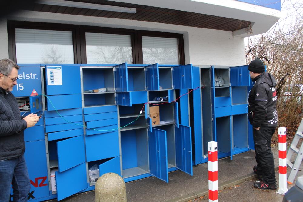 Verkabelung der Lutz Abholbox Erweiterungsboxen